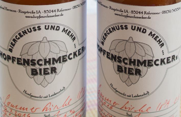 """Der Hopfenschmecker - Über Biergenuss und mehr ... Mein """"Sommerfrische IPA"""""""