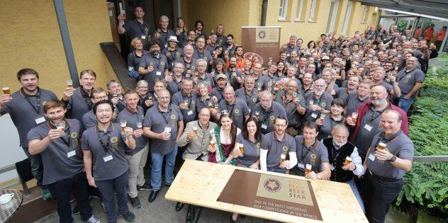 Der Hopfenschmecker bei der Prääsentation von 5 Diegerbieren des European Beer Star 2017